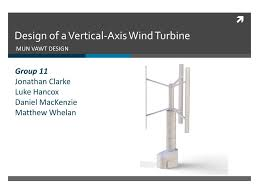 100 Axis Design Group PPT Of A Vertical Wind Turbine PowerPoint