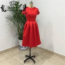 popular beautiful red knee length dresses buy cheap beautiful red