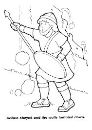 The Walls Of Jericho Crash Down Coloring Pages
