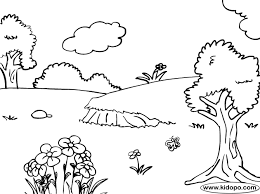 Nature Coloring Pages For Kids To Print