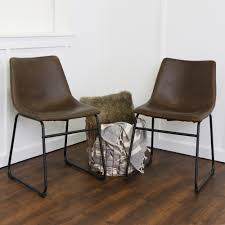 Shop 18-inch Brown Faux Leather Dining Chairs (Set Of 2) - Free ... Elements Intertional Max Casual Counter Height Table Set Aamerica Mariposa Leg Ding W 2 18 Inch Leaves Mrprw6200 Tables Colorado Liberty Fniture Ocean Isle Rectangular With Shop Distressed Black Metal Chair 18inch Seat Primo 9308 Dintp Leaf Powell Room Basil Antique Brown Side Doll Lovely Pink And White Wood Faux Leather Midcentury 18inch Inch Doll Fniture Table Chairs For American Girl Og Awesome Steve Silver For Your Xcalibur 09