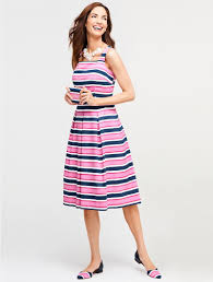 bold stripes sundress talbots pretties pinterest navy