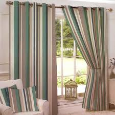 arizona stripe teal ready made eyelet curtains harry corry limited