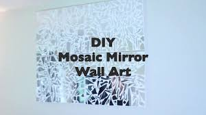 DIY 20 Pier 1 Inspired Mosaic Mirror Wall Art I Glam Decor