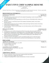 Professional Chef Resume Curriculum Vitae Example Cook Template Sample Engine County