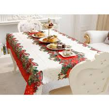 nappe de table rectangulaire noël décoration table maison anti