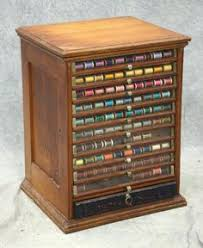 vintage antique j p coats sewing cabinet spool cabinet display