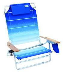 nautica beach chair w side cooler pouch cup holders rainbow