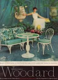 Vintage Wrought Iron Patio Furniture Woodard by Woodard Chantilly Rose Ad 1958 Vintage Wrought Iron Patio