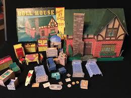 Antique vintage built rite doll house set 36 warren paper