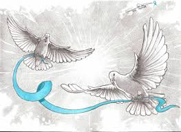 Drawing Ovarian Cancer Awareness Doves A Dredfunn Mechanical Pencil Drawing