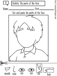Face Body Parts Worksheets Cool Preschool For Kids