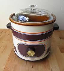 Vintage Rival Crock Pot Slow Cooker Model 3100 2 3 5 QT Retro