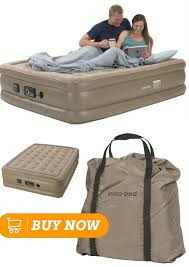 Insta Bed Raised Air Mattress with Never Flat Pump Queen