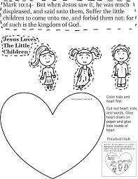 Jesus Loves Children Sunday School Lesson And The Little Coloring Page