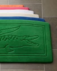 Modern Bathroom Rugs And Towels by Trendy Ideas Lacoste Bathroom Set Bath Towels Signature Croc Towel