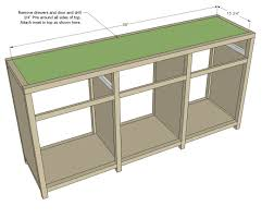 Sewing Cabinet Woodworking Plans by Ana White Printers Triple Console Cabinet Diy Projects