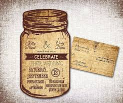 Mason Jar Wedding Invitations Rustic Country Western