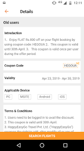 Happy Easy Go....Flat 800 Off On Flights | DesiDime 30 Off Air China Promo Code For Flights From The Us How To Use Your Traveloka Coupon Philippines Blog Make My Trip Coupons Domestic Flights 2018 Galeton Gloves Omg There Is A Delta All Mighty Expedia Another Hot Deal 100us Off Any Flight Coupon Travelocity Airfare Code Best 3d Ds Deals Discount Air Canada Renault Get 750 Cashbackmin 3300 On First Flight Ticket Booking Via Paytm To Apply Discount Or Access Your Order Eventbrite The Ultimate Guide Booking With American Airlines Vacations 2019 Malaysia Promotions 70 Off Tickets August Codes