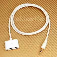 Stereo 3 5MM AUX input To iPod iPhone Dock Connector Female Cable