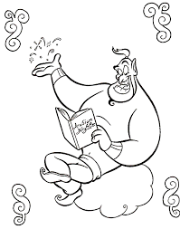 The Genie Reading Book Coloring Page