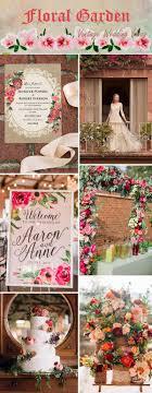 Rustic Vintage Floral Garden Wedding Ideas And Invitations