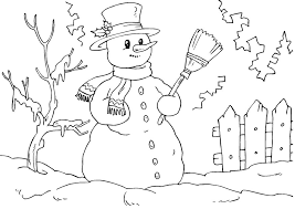 Snowman Coloring Pages Winter
