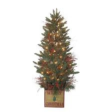 75 Pre Lit Christmas Tree by Shop Holiday Living 5 Ft 392 Count Pre Lit Aspen Fir Artificial