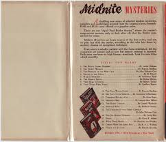 The Rear Flap Is Blank And Back Of Book Advertises Midnite Mysteries This Series Seems To Debut Around Same Time As Worlds Popular