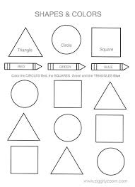 Printable Shapes And Colors Worksheet