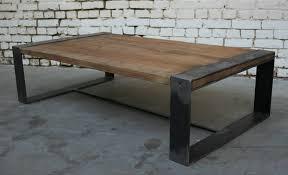 table basse r tb006 giani desmet meubles indus bois métal et cuir