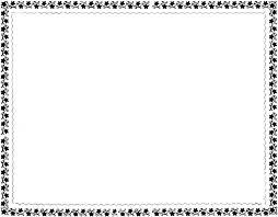 Black and white border clip art free