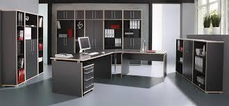 armoire bureau armoire de bureau contemporaine avec étagère coloris anthracite