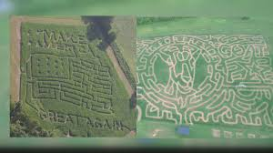 Knoxville Ia Pumpkin Patch by Corn Mazes Pay Tribute To Presidential Candidates Wbir Com