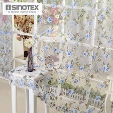 isinotex blaue blumen fenster vorhang stoff wohnzimmer transparent burnout sheer tüll voile screening 1 teile los