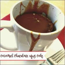 Caramel Chocolate Mug Cake