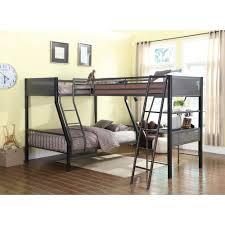 coaster bunks metal twin over full loft bunk bed with loft value