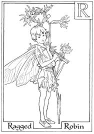 Flower Fairies Coloring Pages Letter R For Ragged Robin Page Alphabet
