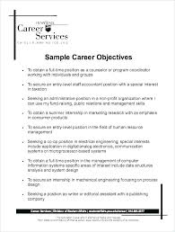 Professional Objectives For A Resume Here Are