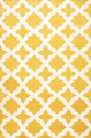 Rugsville Moroccan Trellis Yellow Wool Rug 17119