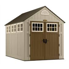 suncast alpine 7 ft 5 3 4 in x 10 ft 8 in resin storage shed