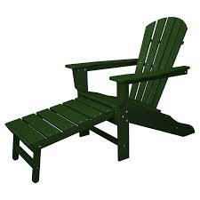Patio Furniture With Hidden Ottoman by Polywood South Beach Ultimate Adirondack Chair With Hideaway