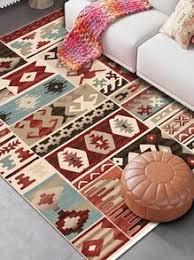boho geometrisches muster teppich