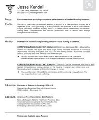 Resume Sample For Cna Experienced Nursing Assistant