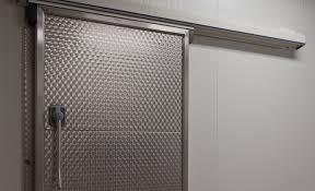 porte coulissante chambre porte coulissante en métal pour chambre froide automatique r