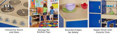 Hape Kitchen Set India by Amazon Com Ecr4kids 4 Piece Colorful Essentials Activity Kitchen