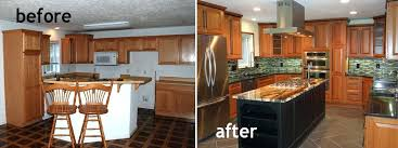 Before And After House Remodel Kitchen Remodels Model Home Regarding