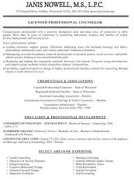 Resume Examplesmental Health Therapist And Sample Mental