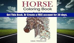 Download PDF Horse Coloring Book Stress Relief Patterns For Adult Relaxation