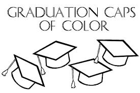 Graduation Caps Of Color Coloring Pages